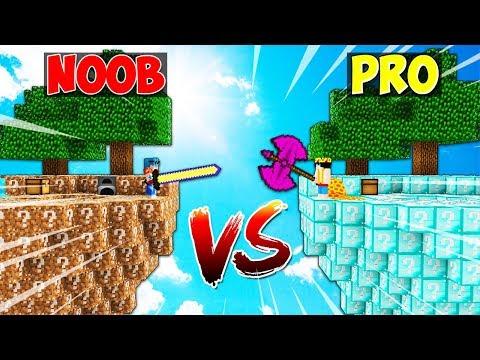 ISLA de LUCKY BLOCKS NOOB vs ISLA de LUCKY BLOCKS PRO 😱 MINECRAFT MODS