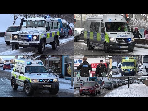 #BeastFromTheEast - Emergency Responses, Gridlock and General Activity in SNOWSTORM!