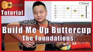 Build Me Up Buttercup Guitar Tutorial - The Foundations | NO CAPO
