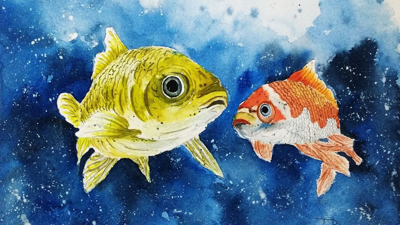 Watercolor painting tutorial fish easy tips tricks for How to paint a fish