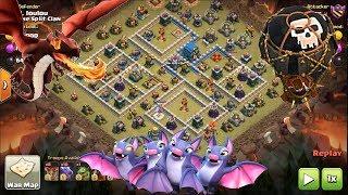 Clash of Clans - TH12 v TH12 Dragon, Loons, Lava, Bat Spell. 3 Star Attack WAR
