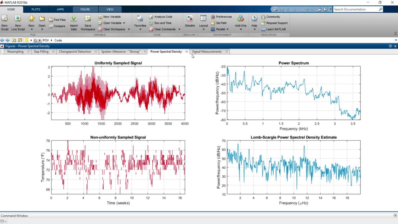 Power Spectral Density Matlab