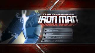 The Invincible Iron Man - UK DVD Menu, Region 2