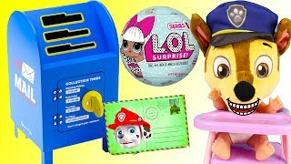 Paw Patrol Chase Learns to Use Magic Mailbox and Wins Biggest Toys Ever