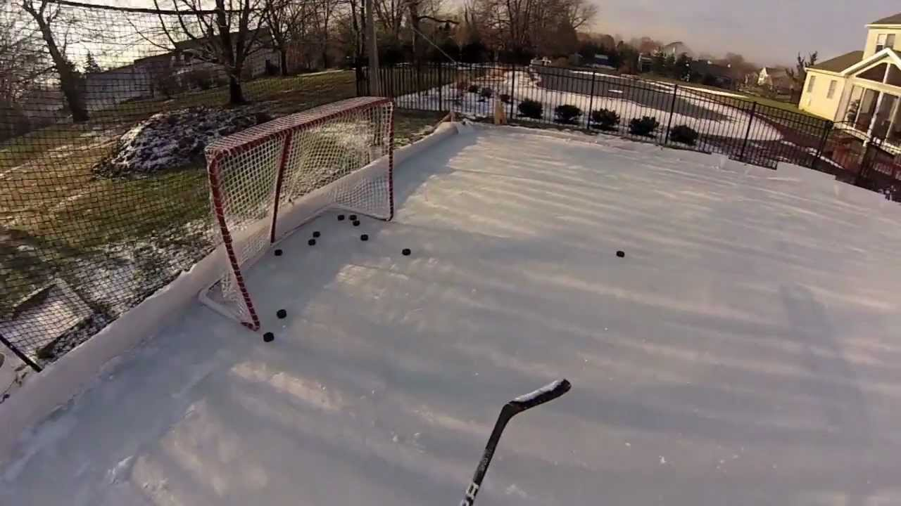backyard ice hockey rink 2013 youtube