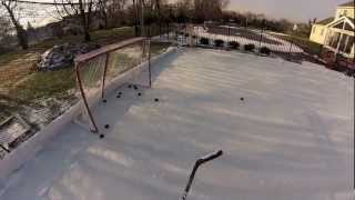 Backyard Ice Hockey Rink 2013