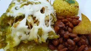 Baked Green Chilaquiles With Chicken Easy Mexican Dish (healthy Version)