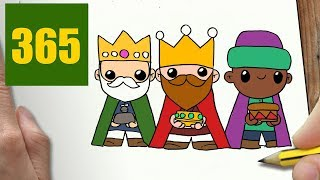 HOW TO DRAW A REYES DE ORIENTE CUTE, Easy step by step drawing lessons for kids