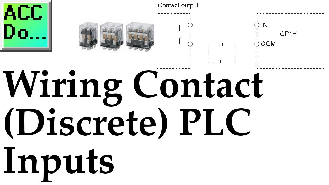 wiring contact discrete plc inputs