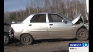 Под Омском на трассе Омск-Черлак столкнулись 24 автомобиля