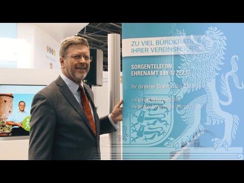 Staatsminister Dr. Huber auf der Internationalen Handwerksmesse - Bayern