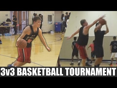 EPIC 3v3 BASKETBALL TOURNAMENT! OFF THE BACKBOARD TO MYSELF!