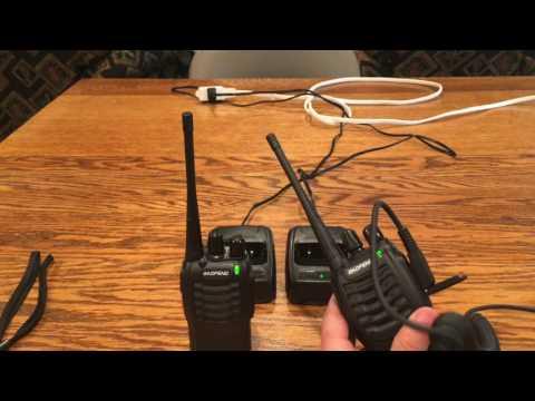 Baofeng Walkie Talkies (Radios) Pair x2 Review/Demo (w/ chargers & shoulder mics)