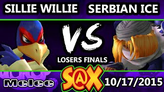 Fall Arcadian - Serbian Ice (Sheik) Vs. Sillie Willie (Falco) SSBM Losers Finals - Smash Melee