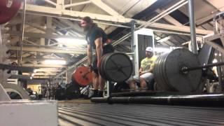 380kg / 838lb deadlift PB