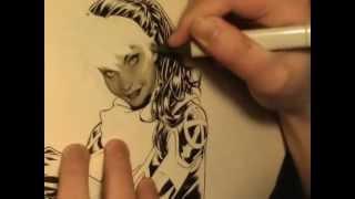 Rogue head tutorial speed art by Mark Brooks