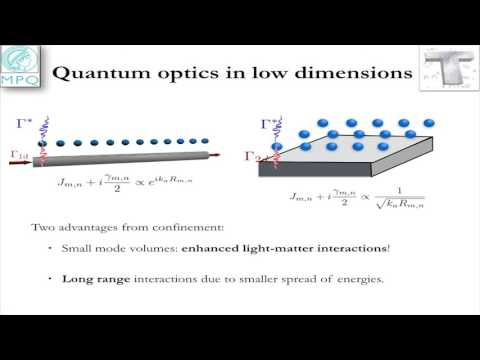 Quantum optics in low dimensions: from fundamentals to appli