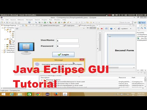 Java Eclipse GUI Tutorial 8 # How To Open A Second Jframe  Using First Jframe