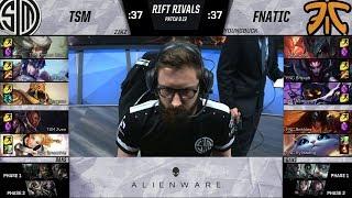 TSM vs FNC - 2019 Rift Rivals - Team SoloMid vs Fnatic