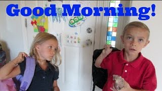 KIDS MORNING ROUTINE - GETTING READY FOR SCHOOL!
