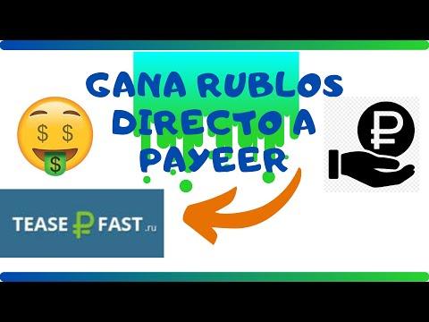 ��GANA RUBLOS DIRECTO A PAYEER+ PRUEBA DE PAGO - TEASE FAST����