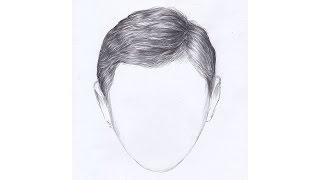 Как рисовать ВОЛОСЫ МУЖЧИНЫ карандашом. Урок 65. How to Draw Hair Men pencil