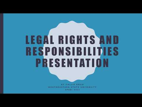 Legal Rights and Responsibilities Presentation