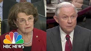 Sessions Keeps Mum On Conversations With President Donald Trump | NBC News