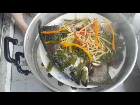 ปลากะพงนึ่งซีอิ๊ว BY แม่มะลิ