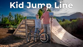 New Kids Backyard Jump Line - Fine Tuning and Riding!