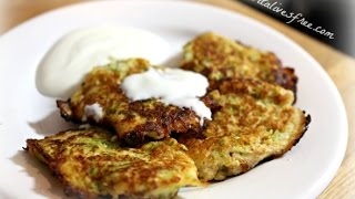 Paleo Zucchini Coconut Pancakes | Easy And Quick Breakfast Idea | Vitalivesfree