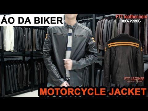 Áo Da Nam Biker, áo Da Biker Chất Liệu Da Cừu