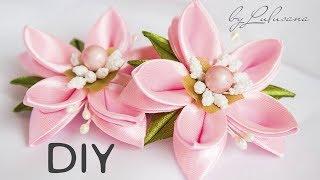 как сделать красивые цветы канзаши своими руками и показать