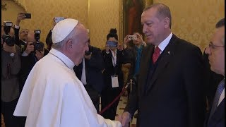 February 2018: President of Turkey visits Vatican for first time in decades