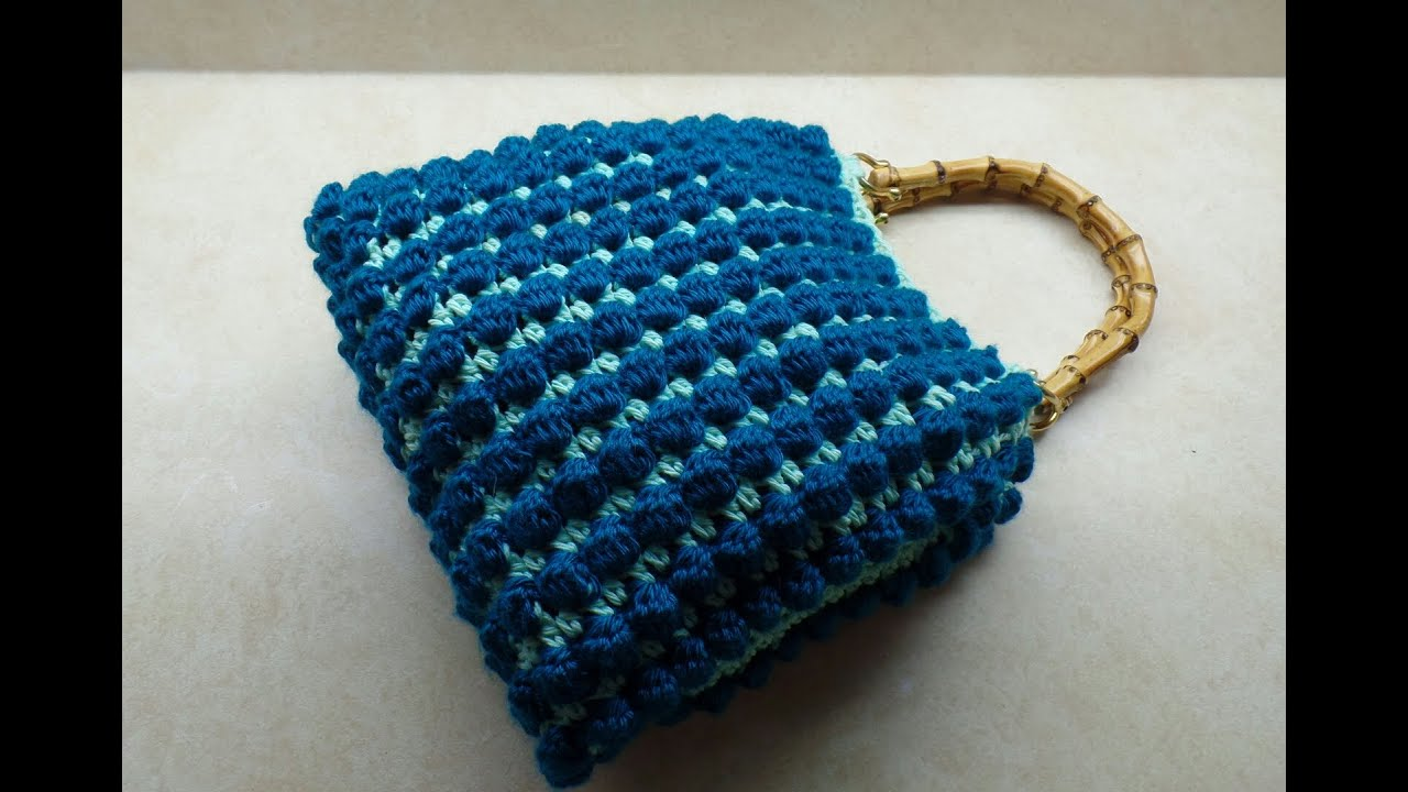 Crochet Stitches Bobble : CROCHET How to #Crochet Bobble Stitch Handbag Purse #TUTORIAL #228 ...