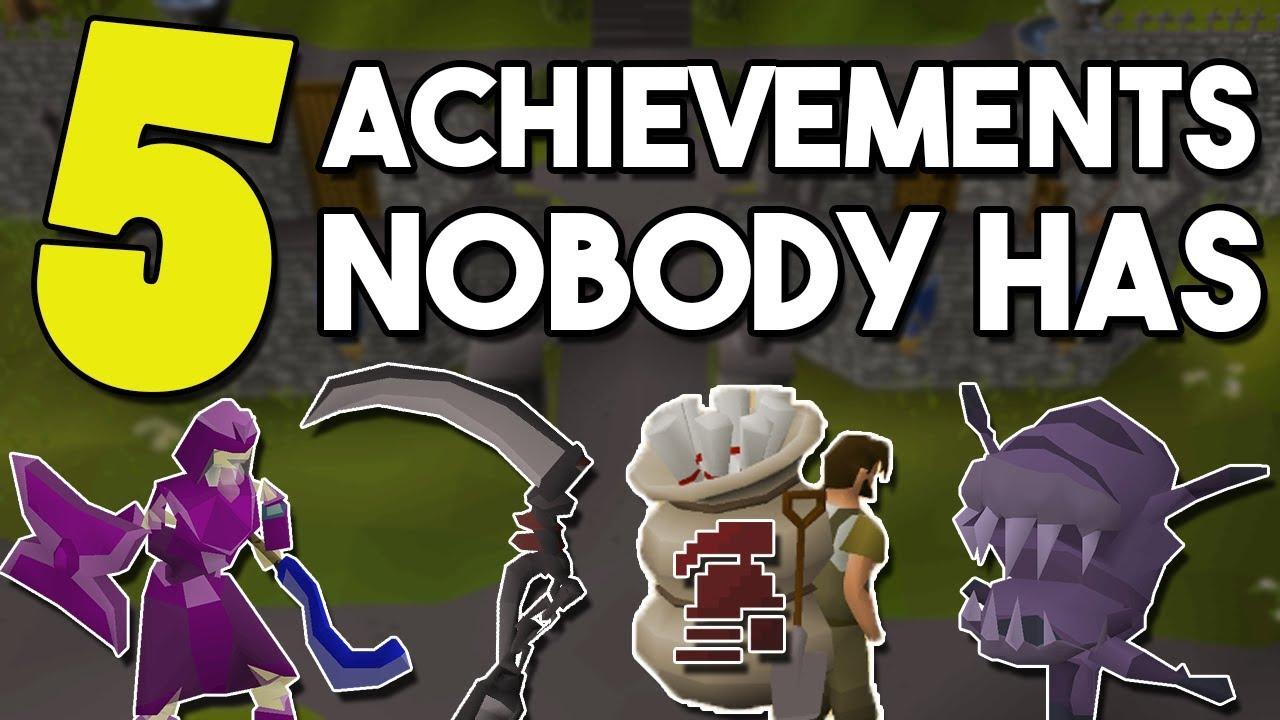Top 5 Rare Achievements Nobody Has in Oldschool Runescape! [OSRS]