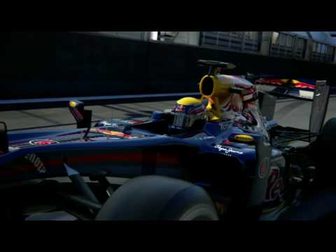 F1 2010 - The Red Bull RB6 simulated Formula 1 cars in motion