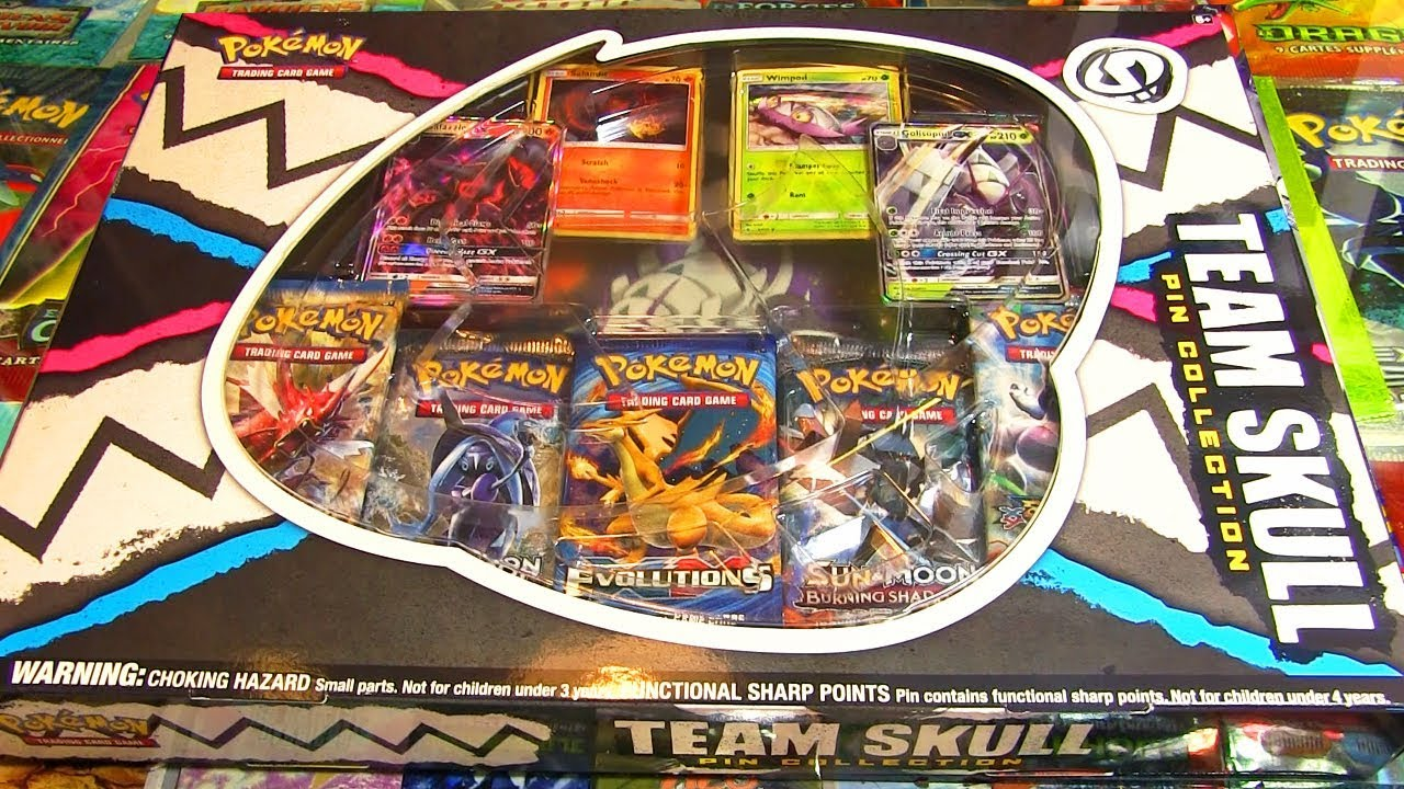 Ouverture Du Coffret Team Skull Plein De Carte Pokemon Gx Youtube