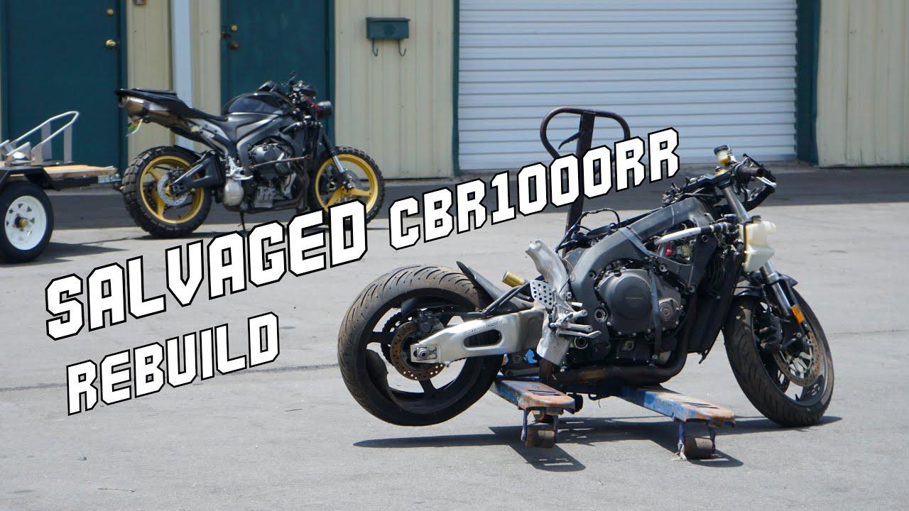 HONDA CBR1000rr Wrecked Bike Rebuild (PT.1 Buying a TOTALED cbr)