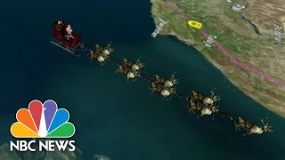 NORAD Tracks Santa Claus As He Travels Across The Globe | NBC News (Live Stream Recording)