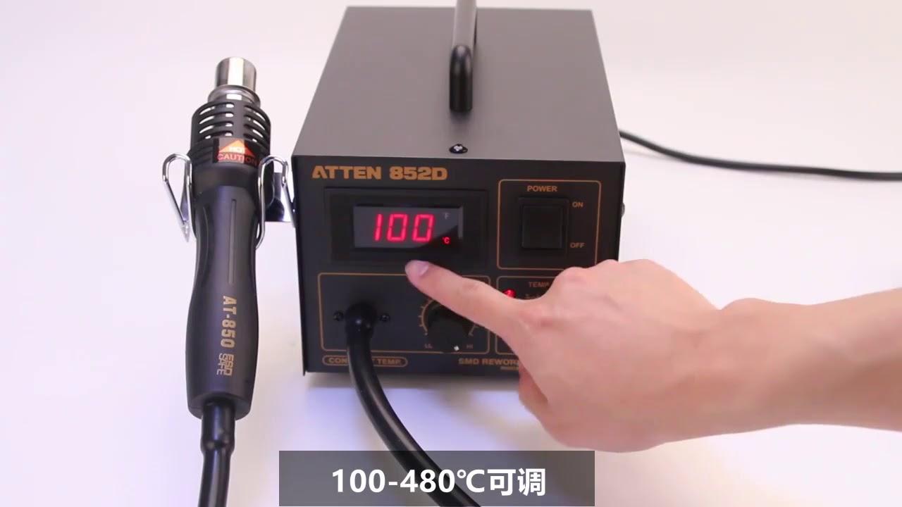 Atten 852D Desoldering Station Hot Air Gun Electronics Motherboard Repair  Tools