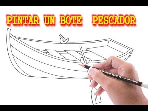 PINTAR Y DECORAR CON COLORES UN BOTE DE PESCAR - aprender a pintar ...