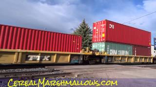 Freight Train Transport BNSF Rail Trains Railroad Crossing XING #throughglass