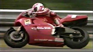 Eddie Lawson CAGIVA First Victory MotoGP 1992 R9 Hungaroring