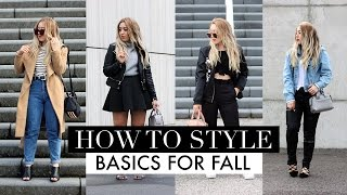 HOW TO STYLE | Basics For Fall Lookbook