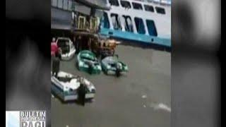 Detik-detik kapal feri menabrak dermaga speed boat Penajam Paser Utara, Kaltim - BIP 29/01
