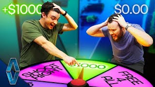 NERF Wheel Of Fortune Roulette Challenge!
