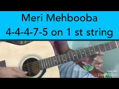 How to playMeri Mehbooba on Guitar Tabs 90s Bollywood