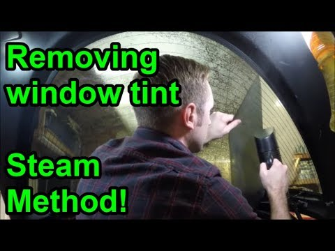 Removing window tint without damaging defroster lines