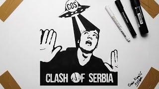 Drawing UFO - Youtuber Clash Of Serbia Vlada Rajnić Crtež